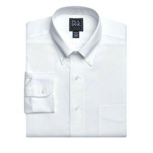 """JoS. A. Bank Traveler White Dress Shirt  17""""N"""